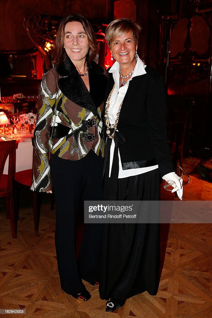 Princess Alessandra Borghese and Princess Gloria von Thurn und Taxis attend Pierre Pelegry's birthday party at Maxim's on March 1, 2013 in Paris, France.