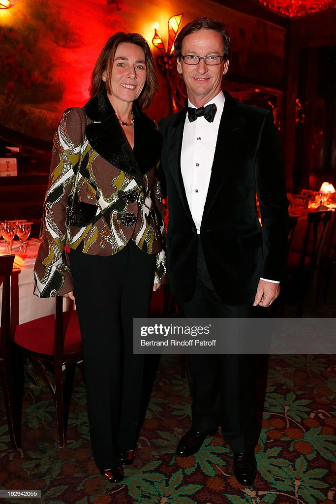 Princess Alessandra Borghese and Thaddaeus Ropac attend Pierre Pelegry's birthday party at Maxim's on March 1, 2013 in Paris, France.