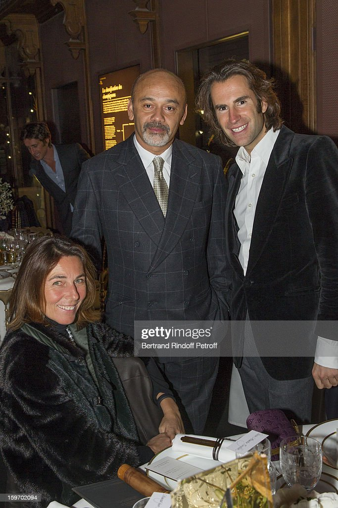 Princess Alessandra Borghese, <a gi-track='captionPersonalityLinkClicked' href=/galleries/search?phrase=Christian+Louboutin+-+Fashion+Designer&family=editorial&specificpeople=4644509 ng-click='$event.stopPropagation()'>Christian Louboutin</a> and <a gi-track='captionPersonalityLinkClicked' href=/galleries/search?phrase=Pierre+Pelegry&family=editorial&specificpeople=5623467 ng-click='$event.stopPropagation()'>Pierre Pelegry</a> attend the Berluti Men Autumn / Winter 2013 presentation at the Great Gallery of Evolution in the National Museum of Natural History, as part of Paris Fashion Week on January 18, 2013 in Paris, France.