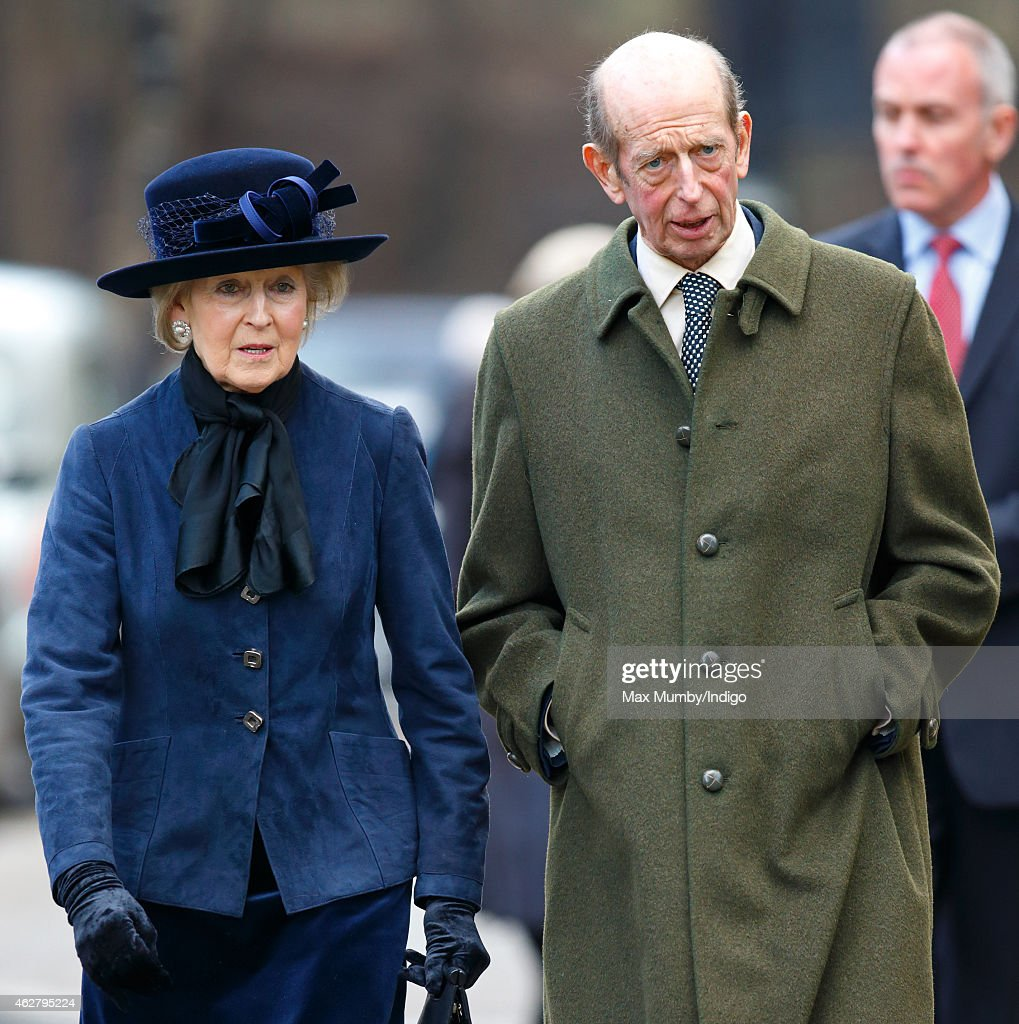 Princess Alexandra and her brother Prince Edward, Duke of Kent attend a Service of Thanksgiving for the life of Sir Jocelyn Stevens at St Paul's Knightsbridge on February 5, 2015 in London, England. Magazine publisher and newspaper executive Sir Jocelyn Stevens died aged 82 on October 9 2014.