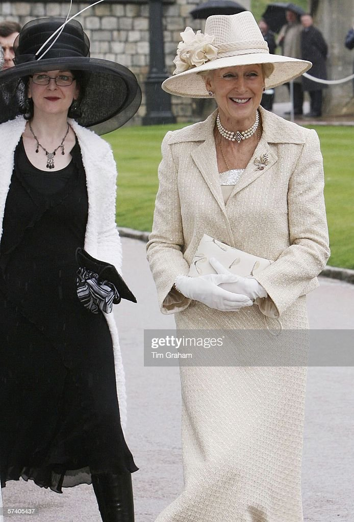Princess Alexandra and her daughter Marina Ogilvy (formerly Mowatt) arrive at St George's Chapel Windsor Castle for Thanksgiving Service for the Queen's 80th Birthday on Apr23, 2006 in Windsor, England.