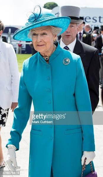 Princess Alexandra arrives on Derby Day at Epsom Racecourse on June 6 2015 in Epsom England