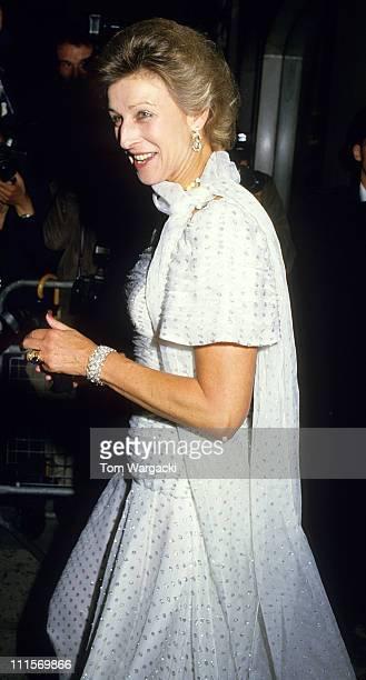 Princess Alexandra at Claridges for Prince Andrew and Sarah pre wedding ceremony