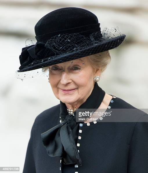 Princess Alexandra attends a service of thanksgiving for Lady Soames at Westminster Abbey on November 20 2014 in London England