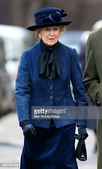 Princess Alexandra attends a Service of Thanksgiving for the life of Sir Jocelyn Stevens at St Paul's Knightsbridge on February 5 2015 in London...