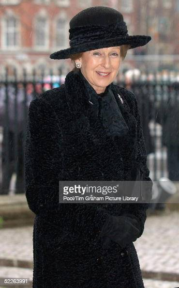 HRH Princess Alexandra attends the Sir Angus Ogilvy Service of Thanksgiving at Westminster Abbey on March 2 2005 in London England The 76year old...