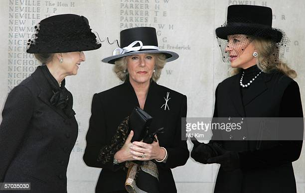 Princess Alexandra Camilla Duchess of Cornwall and Princess Michael of Kent attend the second memorial service for Lord Lichfield Royal photographer...