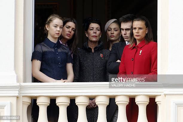 Princess Alexandra Charlotte Casiraghi Beatrice Borromeo Princess Caroline of Hanover Louis Ducruet and Princess Stephanie of Monaco appear on the...