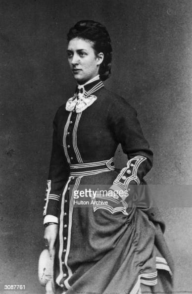 Princess Alexandra daughter of King Christian IX of Denmark and consort of the future King Edward VII on Cowes on the Isle of Wight