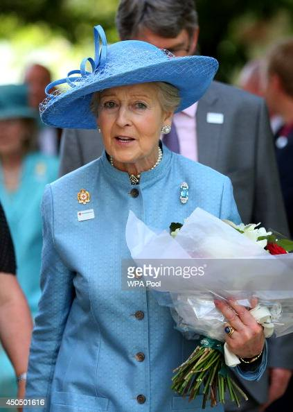 Princess Alexandra Deputy President of the British Red Cross Society meets guests during a garden party in honour of the society at Buckingham Palace...