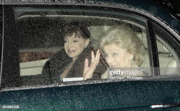 Princess Alexandra of Denmark arrive at Buckingham Palace in London to attend a private reception and concert as part of The Prince of Wales 60th...