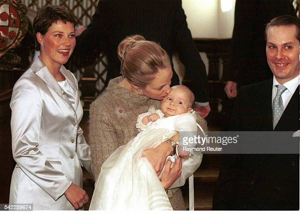 Princess Alexandra of Denmark Count Jefferson and their child and Martha Louise of Norway