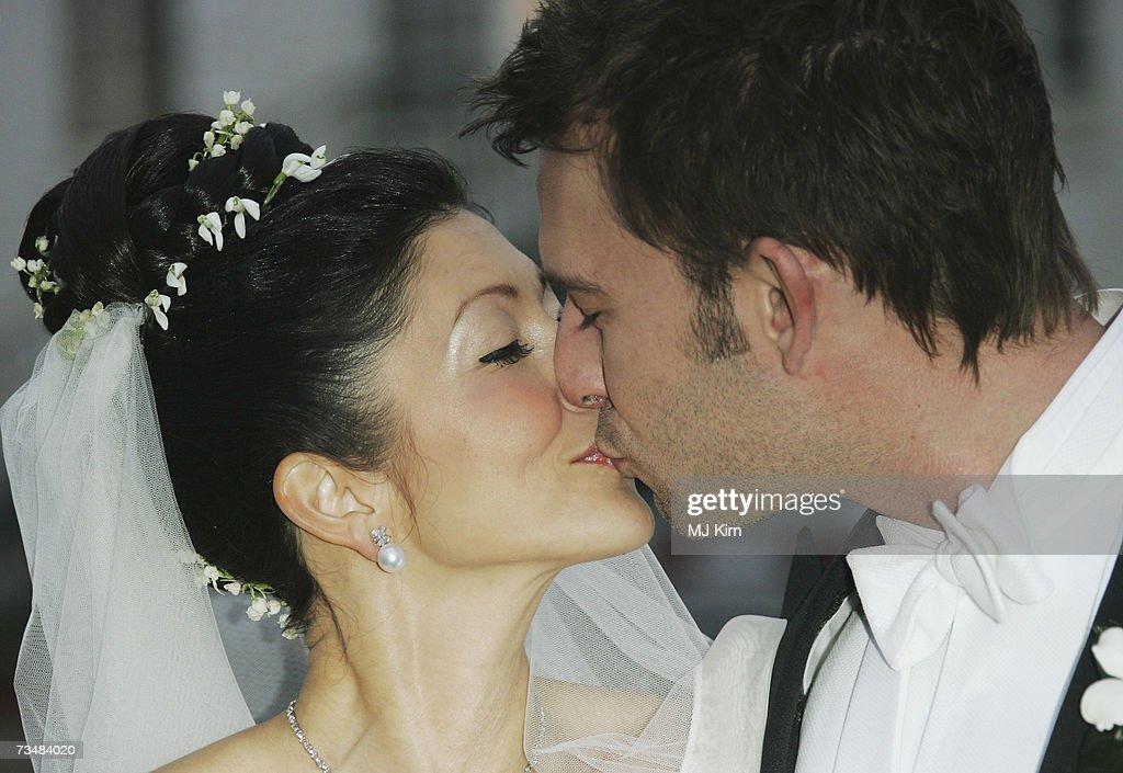 Princess Alexandra of Denmark kisses her husband Martin Jorgensen after their wedding ceremony at Oster Egende Church on March 3, 2007 in Fakse, Denmark.