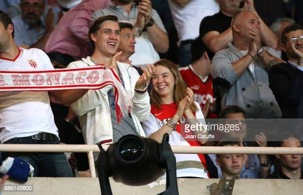 Princess Alexandra of Hanover and BenSilvester Strautmann during the French Ligue 1 Championship title celebration following the match between AS...