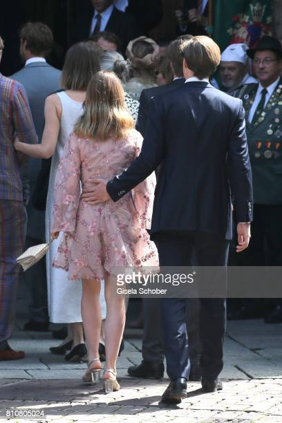 Princess Alexandra of Hanover and her boyfriend BenSylvester Strautmann during the wedding of Prince Ernst August of Hanover jr Duke of...