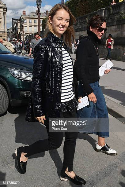 Princess Alexandra of Hanover arrives at the Elie Saab show as part of the Paris Fashion Week Womenswear Spring/Summer 2017 on October 1 2016 in...