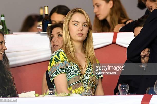 Princess Alexandra of Hanover attends Longines Global Champions Tour of Monaco on June 24 2016 in Monaco Monaco