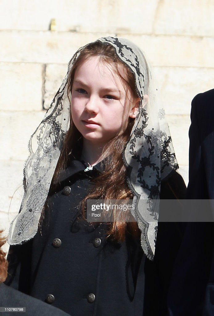 Princess Alexandra of Hanover attends the funeral of Princess Melanie-Antoinette at Cathedrale Notre-Dame-Immaculee de Monaco on March 24, 2011 in Monaco, Monaco. ((Photo by Pool/Getty Images))