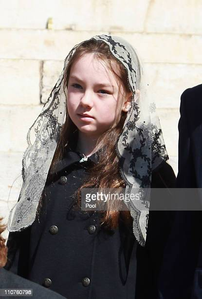 Princess Alexandra of Hanover attends the funeral of Princess MelanieAntoinette at Cathedrale NotreDameImmaculee de Monaco on March 24 2011 in Monaco...