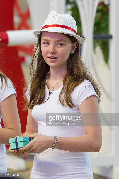 Princess Alexandra Of Hanover attends the JaegerLeCoultre ProAm Cup Monaco during the Monaco International Jumping as part of Global Champion Tour on...
