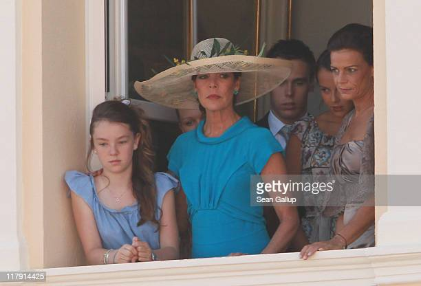 Princess Alexandra of Hanover Camille Marie Kelly Gottlieb Princess Caroline of Hanover Louis Ducruet Pauline Ducruet and Princess Stephanie of...