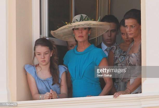 Princess Alexandra of Hanover Camille Marie Kelly Gottlieb Princess Caroline of Hanover Louis Ducruet Pauline Ducruet and Princess Stephanie of...