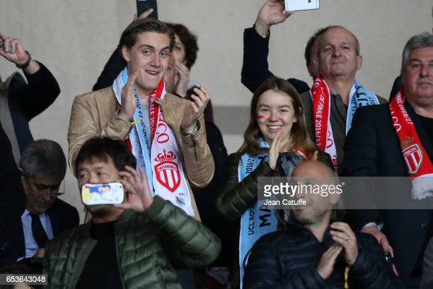 Princess Alexandra of Hanover daughter of Princess Caroline of Monaco and Prince Ernst August of Hanover attends the UEFA Champions League Round of...