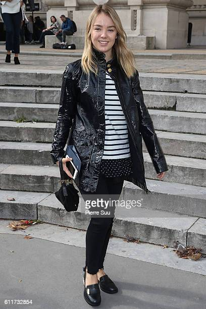 Princess Alexandra of Hanover leaves the Mugler show as part of the Paris Fashion Week Womenswear Spring/Summer 2017 on October 1 2016 in Paris France