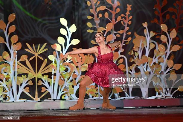 Princess Alexandra of Hanover performs on stage during the Intimissimi On Ice 2015 Show on October 9 2015 in Verona Italy