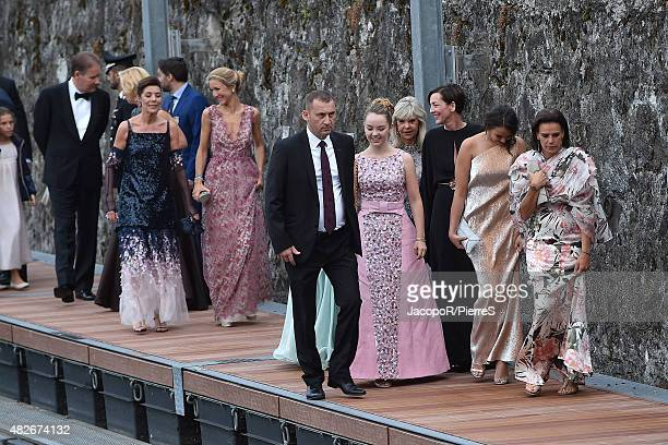 Princess Alexandra of Hanover Princess Caroline of Hanover Princess Stephanie of Monaco Pauline Ducruet and Princess Caroline of Hanover are seen on...