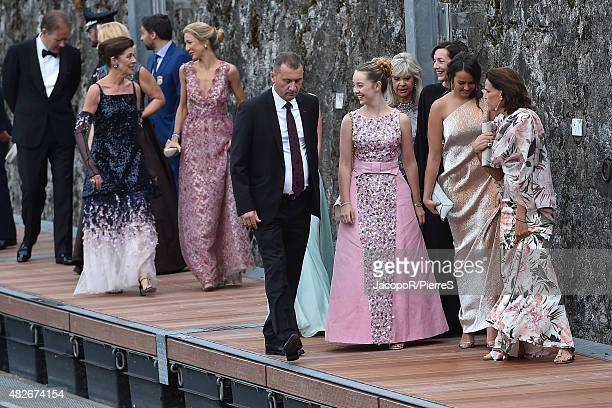 Princess Alexandra of Hanover Princess Caroline of Hanover Princess Stephanie of Monaco Pauline Ducruet and Princess Caroline of Hanover are seen on...