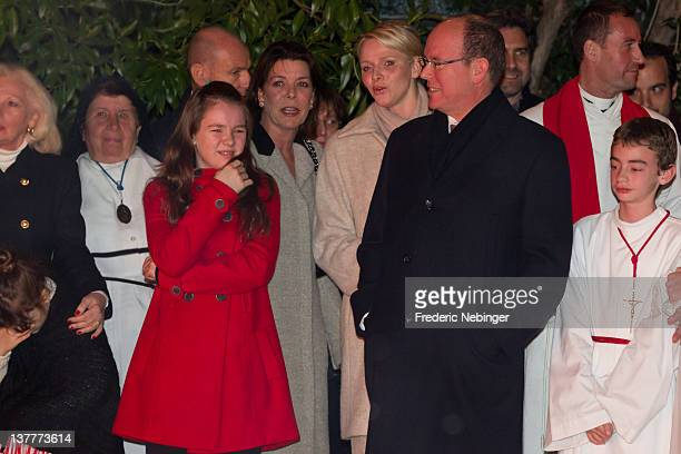 Princess Alexandra of Hanover Princess Caroline of HanoverPrince Albert II of Monaco and Princess Charlene of Monaco attend the Ceremony Of The...