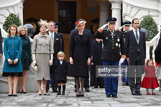 Princess Alexandra of HanoverPrincess Caroline of Hanover Sacha CasiraghiPrincess Charlene of Monaco Prince Albert II of Monaco Andrea Casiraghi and...