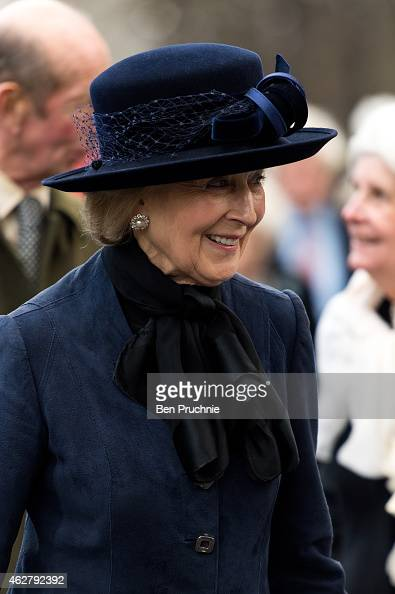 Princess Alexandra of Kent attends a memorial for Sir Jocelyn Stevens at St Paul's Church on February 5 2015 in London England