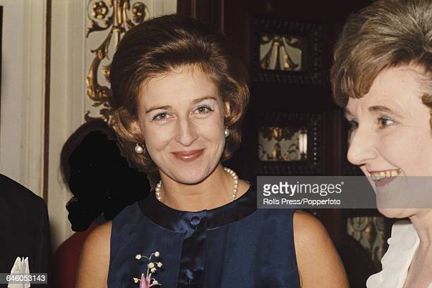Princess Alexandra of Kent the Honourable Lady Ogilvy pictured at a function in London in 1969