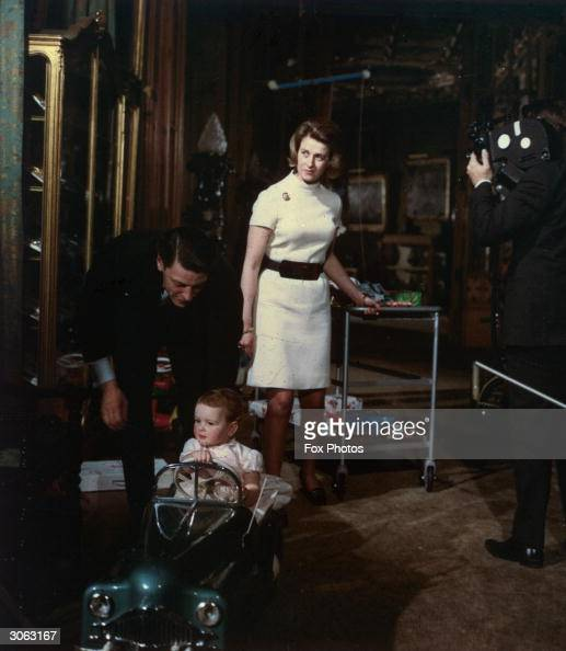Princess Alexandra of Kent with her husband Angus Ogilvy and their daughter Marina Ogilvy during the filming of a Royal Television programme