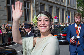 Princess Alexandra of Luxembourg assists National Day on June 23 2015 in Luxembourg Luxembourg