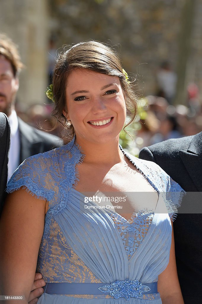Princess Alexandra Of Luxembourg attends the Religious Wedding Of Prince Felix Of Luxembourg & Claire Lademacher at Basilique Sainte Marie-Madeleine on September 21, 2013 in Saint-Maximin-La-Sainte-Baume, France.