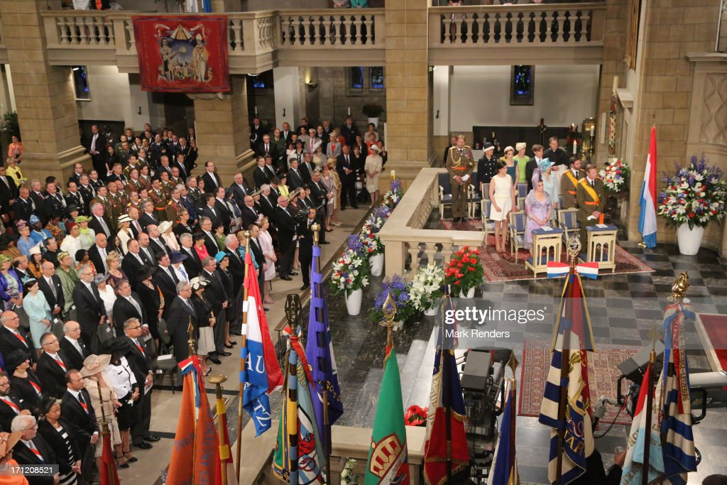<a gi-track='captionPersonalityLinkClicked' href=/galleries/search?phrase=Princess+Alexandra+of+Luxembourg&family=editorial&specificpeople=160220 ng-click='$event.stopPropagation()'>Princess Alexandra of Luxembourg</a>, <a gi-track='captionPersonalityLinkClicked' href=/galleries/search?phrase=Grand+Duchess+Maria+Teresa&family=editorial&specificpeople=159000 ng-click='$event.stopPropagation()'>Grand Duchess Maria Teresa</a> of Luxembourg, Grand Duke Henri of Luxembourg, Princess Stephanie of Luxembourg, Prince Guillaume of Luxembourg, <a gi-track='captionPersonalityLinkClicked' href=/galleries/search?phrase=Princess+Tessy+of+Luxembourg&family=editorial&specificpeople=7064107 ng-click='$event.stopPropagation()'>Princess Tessy of Luxembourg</a> and <a gi-track='captionPersonalityLinkClicked' href=/galleries/search?phrase=Prince+Louis+of+Luxembourg&family=editorial&specificpeople=674475 ng-click='$event.stopPropagation()'>Prince Louis of Luxembourg</a> celebrate National Day on June 23, 2013 in Luxembourg, Luxembourg.