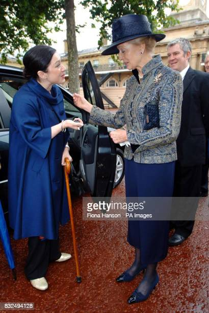 Princess Alexandra presents the keys of a specially adapted Renault Scenic to London Bombing victim Gill Hicks and husband Joe Kerr provided by...