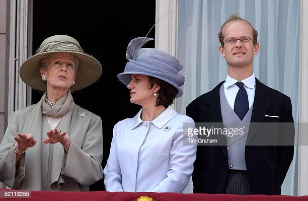 Princess Alexandra Talking With Sylvana Countess Of St Andrews On The Balcony Of Buckingham Palace With Them Is Lord Nicholas Windsor