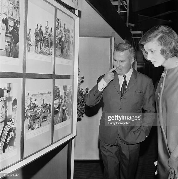 Princess Alexandra The Honourable Lady Ogilvy with British photojournalist Terry Fincher after presenting him with the British Press Photographer of...