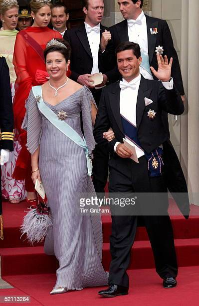 Princess Alexia Of Greece And Her Husband Carlos Morales Quintana At The Royal Wedding In Copenhagen Cathedral