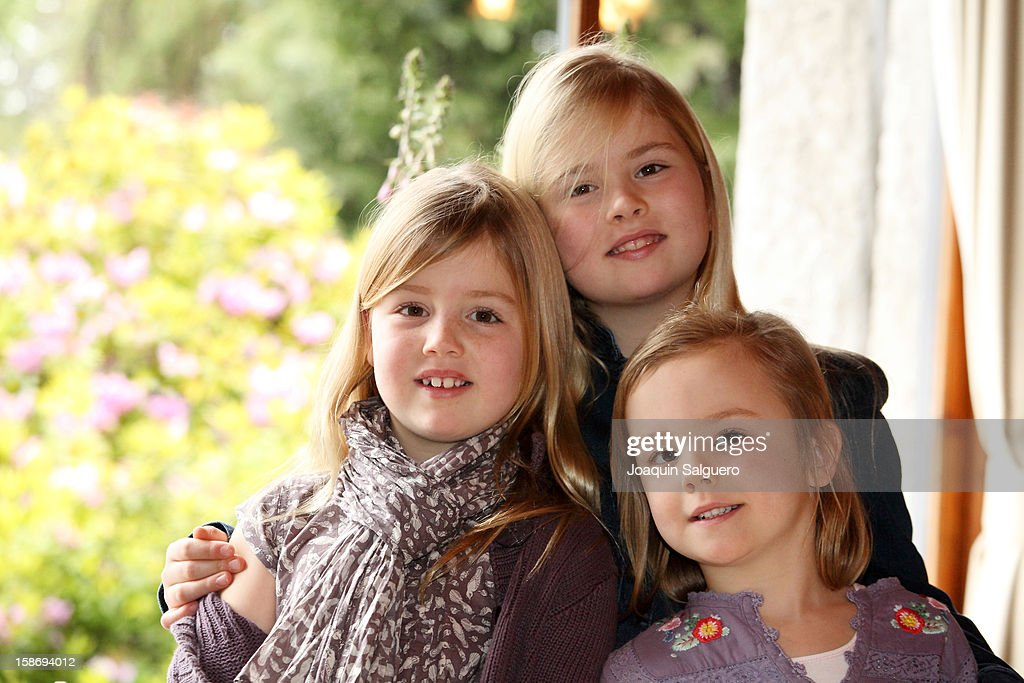 Princess Alexia of Netherlands, Princess Catharina-Amalia of Netherlands and Princess Ariane of Netherlands pose as the Dutch Royal family celebrate Christmas on December 23, 2012 in Villa la Angostura, Argentina.