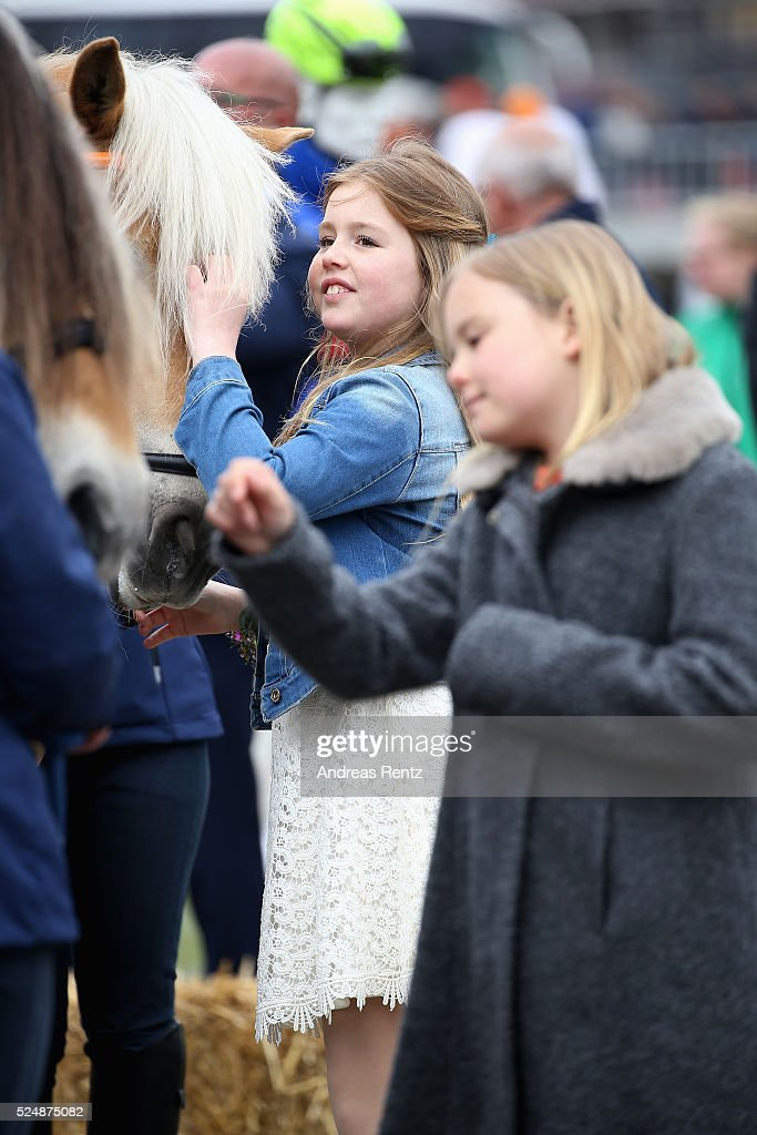 Princess Alexia of The Netherlands (L) and Princess Ariane of The Netherlands (R) seen during King's Day (Koningsdag), the celebration of the birthday of the Dutch King, on April 27, 2016 in Zwolle, Netherlands. Parties and concerts are held across the Netherlands as members of the Dutch royal family oversee festivities.