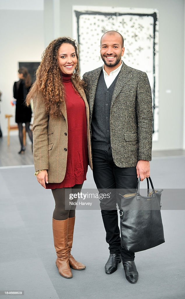 Princess Alia Al-Senussi and Abdullah Al Turki attend the private view for Frieze Masters on October 15, 2013 in London, England.