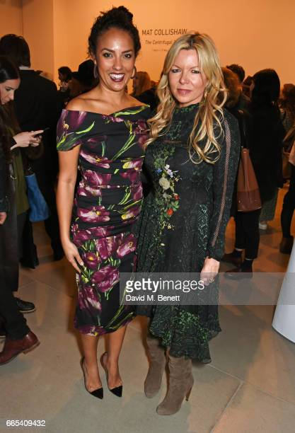 Princess Alia AlSenussi and Fru Tholstrup attend the Private View of 'Centrifugal Soul' by Mat Collishaw at Blain Southern on April 6 2017 in London...