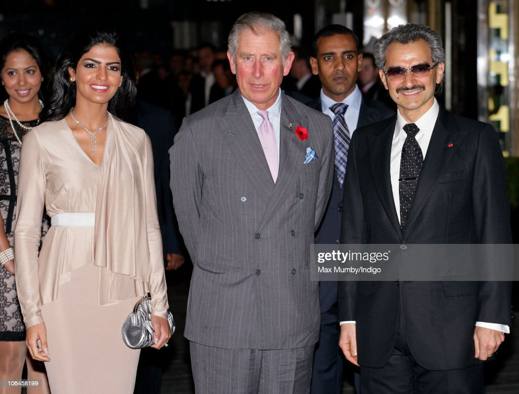 Princess Amira, Prince Charles, Prince of Wales and Prince Alwaleed Bin Talal Bin AbdulAziz Alsaud attend the re-opening of the newly restored Savoy Hotel on November 2, 2010 in London, England.