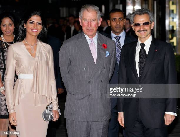 Princess Amira Prince Charles Prince of Wales and Prince Alwaleed Bin Talal Bin AbdulAziz Alsaud attend the reopening of the newly restored Savoy...