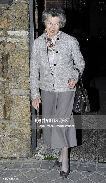 Princess Ana of Francia attends the funeral service for Prince Kardam of Bulgaria on the first anniversary of his death at Santos Andres and Demetrio...